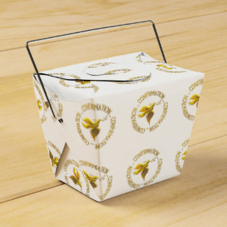Golden Confirmation and Holy Spirit Party Favour Box