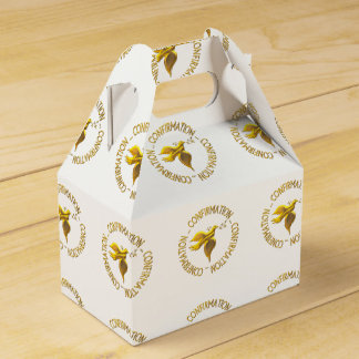 Golden Confirmation and Holy Spirit Party Favour Boxes