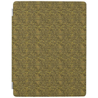 Golden Connected Ovals Celtic Pattern iPad Cover