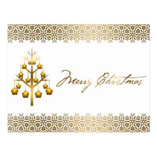 Golden Contemporary Christmas Post Cards