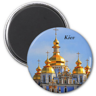 Golden copes of in cathedral in Kiev, Kiev 6 Cm Round Magnet