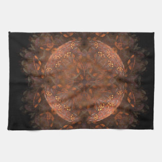 Golden Copper Shimmer Tea Towel