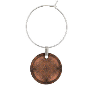 Golden Copper Shimmer Wine Charm