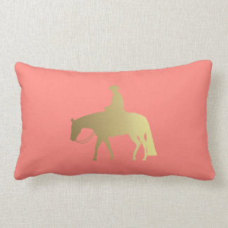 Golden Coral Chevrons Western Pleasure Horse Lumbar Cushion