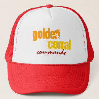 """GOLDEN CORRAL COMMANDO"" - Trucker Hat! Trucker Hat"