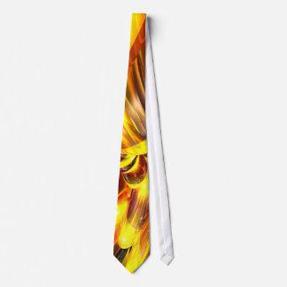 Golden Cosmos Abstract Tie