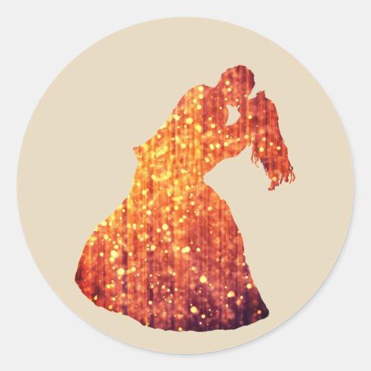 Golden Couple, Kiss, Romance  Sticker