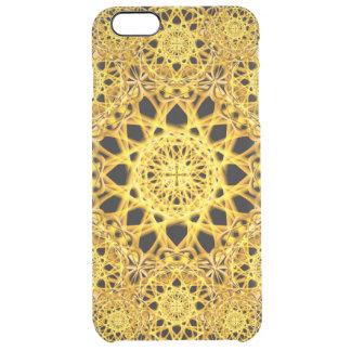 Golden Cross Mandala Clear iPhone 6 Plus Case