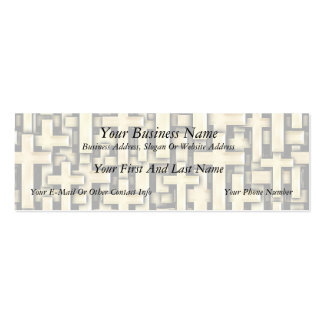 Golden Crosses Double-Sided Mini Business Cards (Pack Of 20)