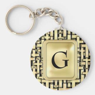 Golden Crosses Key Ring