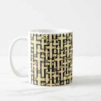 Golden Crosses Basic White Mug