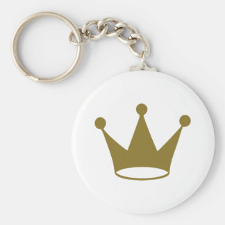 Golden crown key ring