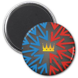 Golden crown magnet