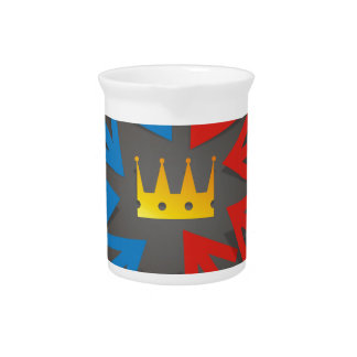 Golden crown pitcher