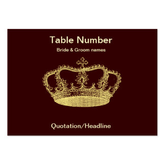 Golden Crown Reception Table Placecard Large Business Cards (Pack Of 100)