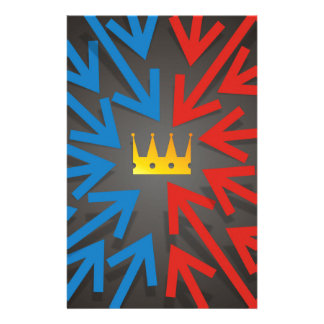 Golden crown stationery