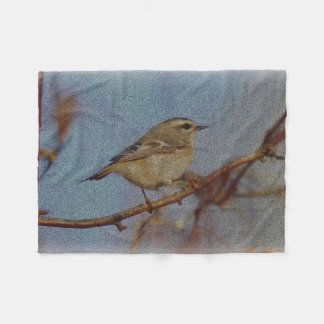 Golden-crowned Kinglet Fleece Blanket