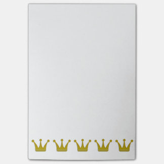 Golden Crowns Border + your ideas Post-it® Notes