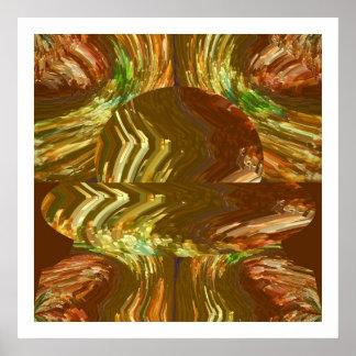 Golden Crystal Art : Healing Energy Aura Cleaning Print