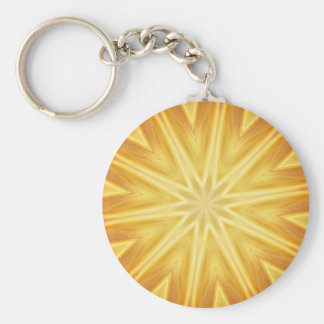 Golden crystals key chain