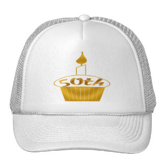 Golden Cupcake 50th Birthday Gifts Hat