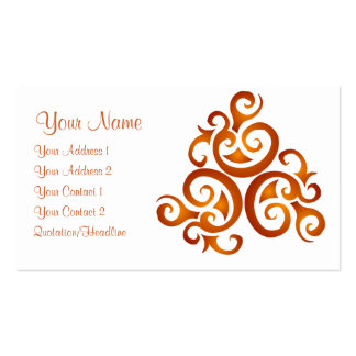 Golden curls Customized Pack Of Standard Business Cards