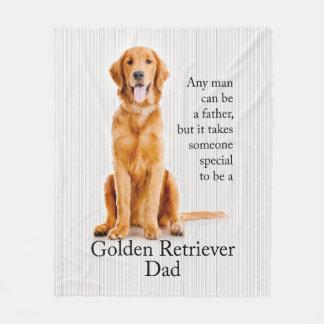 Golden Dad Fleece Blanket