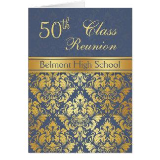 Golden damask 50th Class Reunion Greeting Card