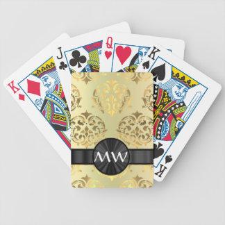 Golden damask deck of cards