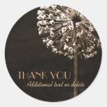 Golden Dandelion Wishes Thank-You Round Sticker