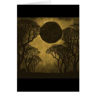Golden Dark Forest Eclipse Card