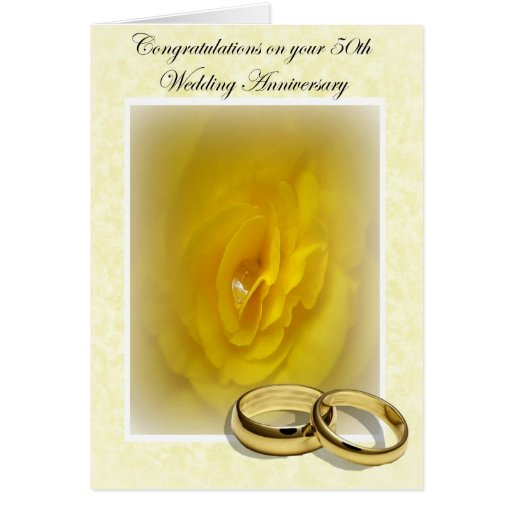 Golden days th wedding anniversary greeting card zazzle