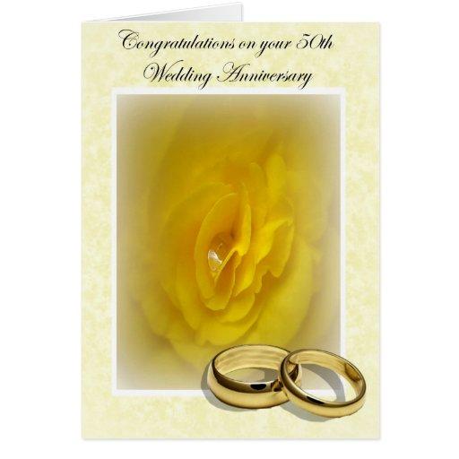Golden days th wedding anniversary greeting card zazzle