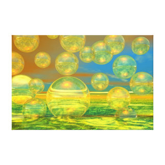 Golden Days - Yellow & Azure Tranquility Canvas Print