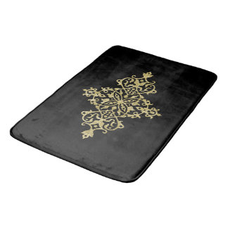 Golden decoration bath mat