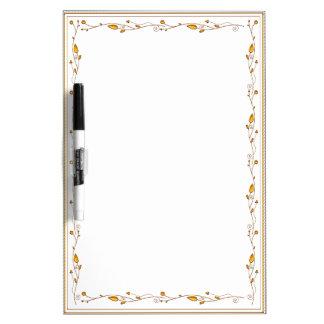 Golden decoration dry erase board
