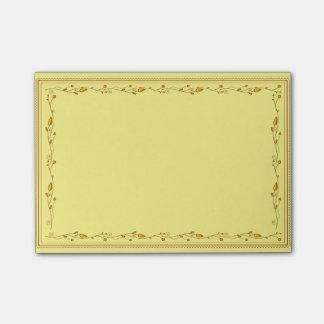 Golden decoration post-it® notes