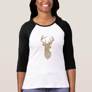 Golden Deer Head T-Shirt