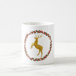 Golden deer mug