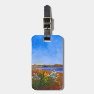 Golden Delaware River Luggage Tag
