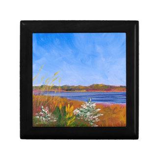 Golden Delaware River Small Square Gift Box