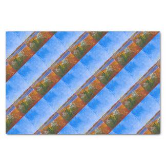 Golden Delaware River Tissue Paper
