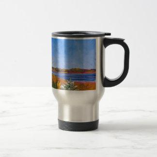 Golden Delaware River Travel Mug
