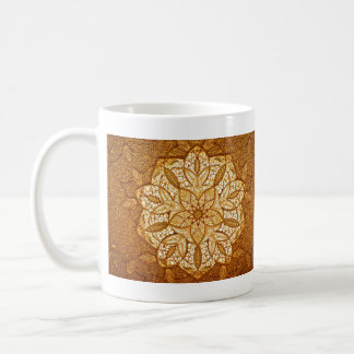 Golden delicate pattern Mughal themed mug