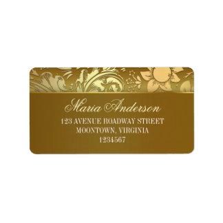 golden design address labels