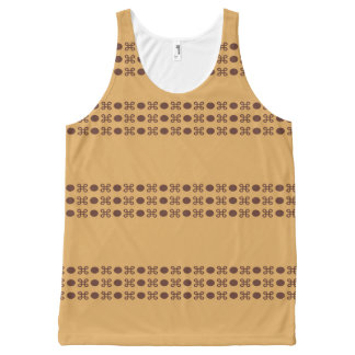 Golden Design by Bubbleblue All-Over Print Tank Top