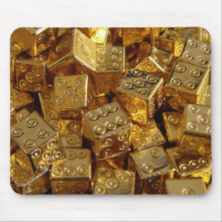 Golden dice! mouse pad