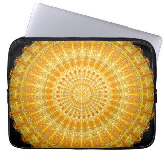 Golden Disc of Secrets Mandala Laptop Computer Sleeve