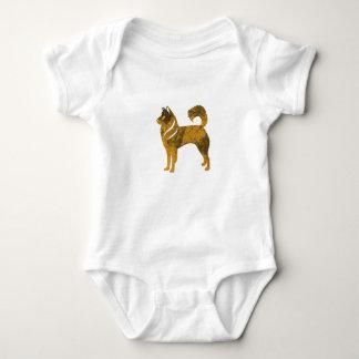 Golden Dog Husky Baby Jersey Bodysuit, White Baby Bodysuit