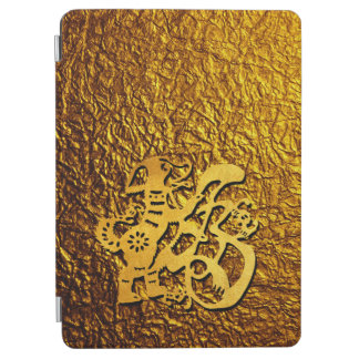 Golden Dog Year Chinese Papercut iPad Cover